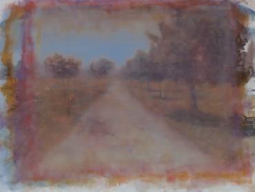Camino gris hacia el color azul