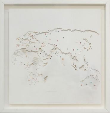 """Localización de los recursos naturales y bases militares de Estados Unidos y Rusia en África, Europa y Asia. From Series """"Militancia estética"""""""