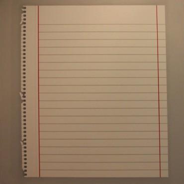 Hoja de papel arrancado (Torn Sheet)