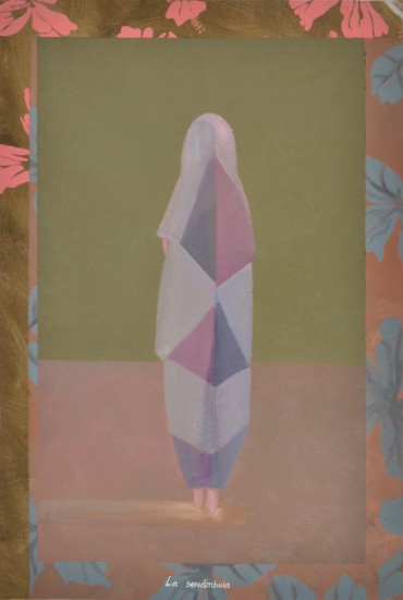 La sonámbula (The Somnambulist), from the series Pinturas sobre flores recuperadas (Painting on Recovered Flowers)